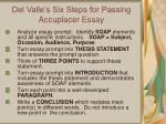 del valle s six steps for passing accuplacer essay