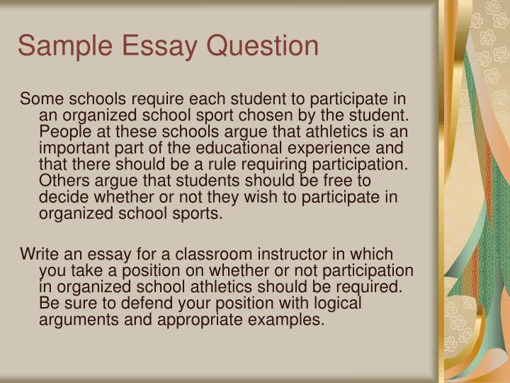 Sample Essay Question