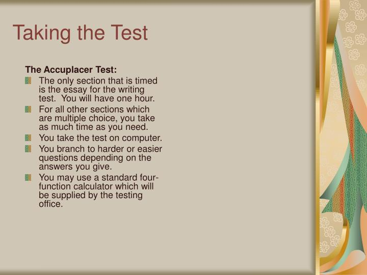 The Accuplacer Test:
