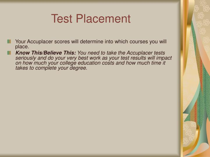 Test Placement