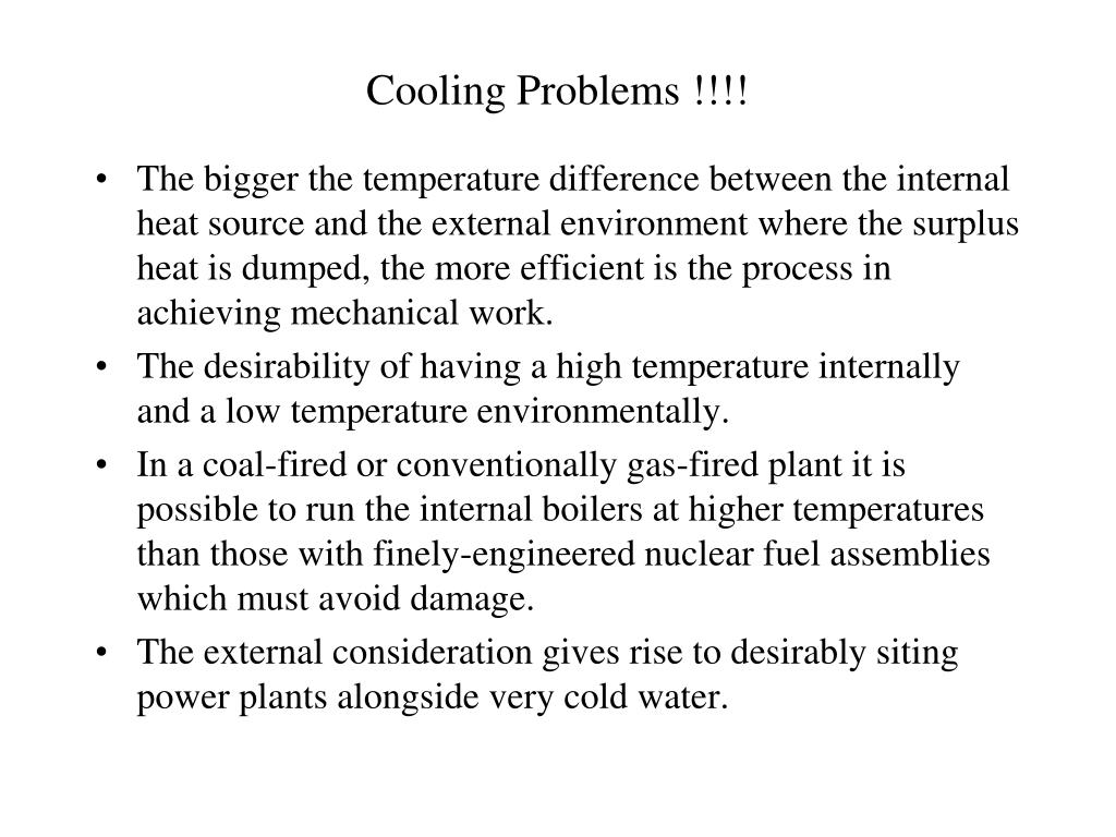 Cooling Problems !!!!