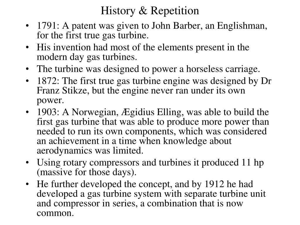 History & Repetition