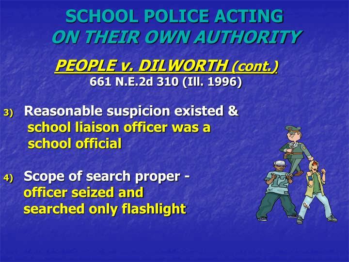 SCHOOL POLICE ACTING