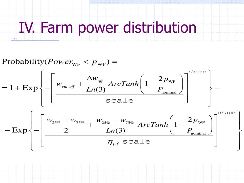 IV. Farm power distribution