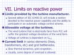vii limits on reactive power