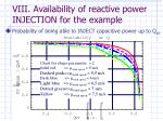 viii availability of reactive power injection for the example