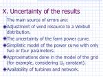 x uncertainty of the results