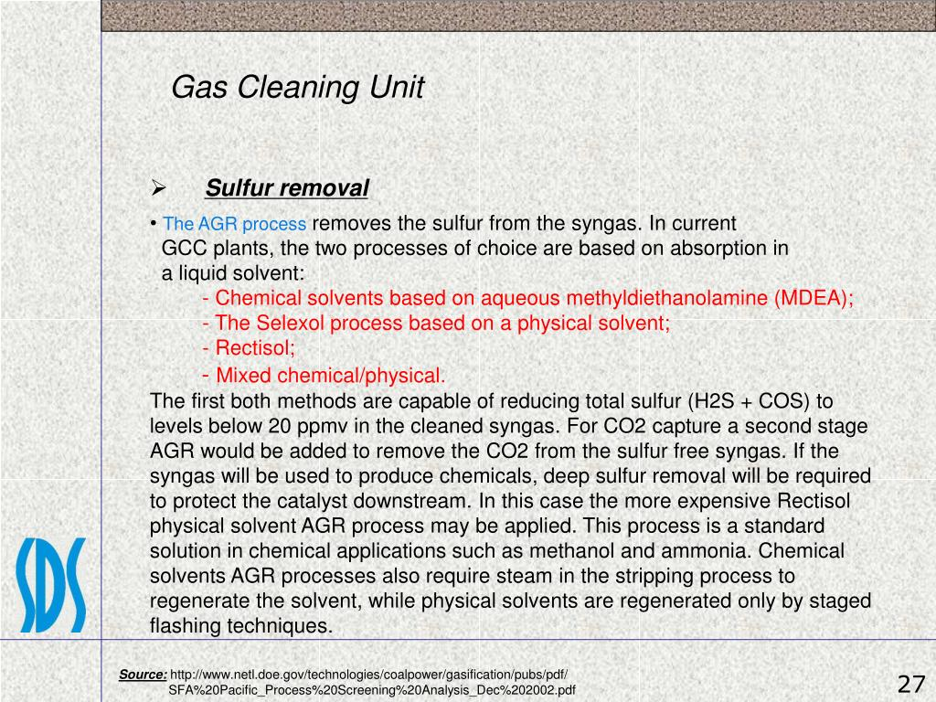 Gas Cleaning Unit
