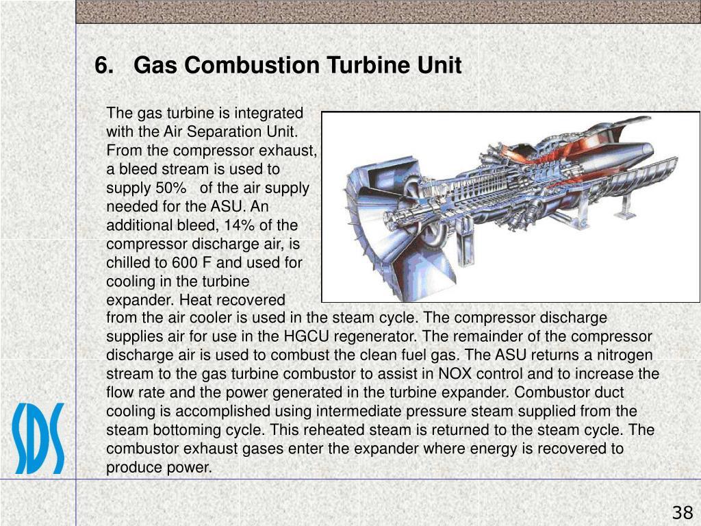 6.   Gas Combustion Turbine Unit