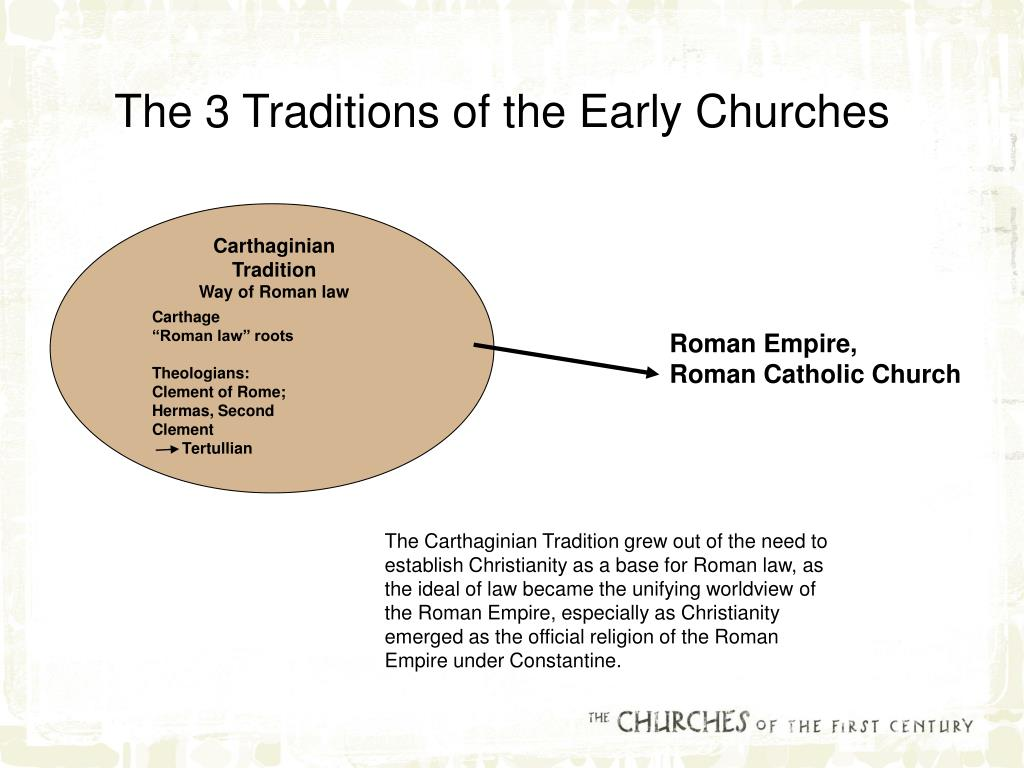 The 3 Traditions of the Early Churches
