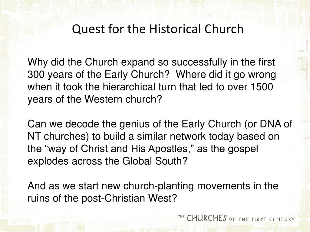 Quest for the Historical Church