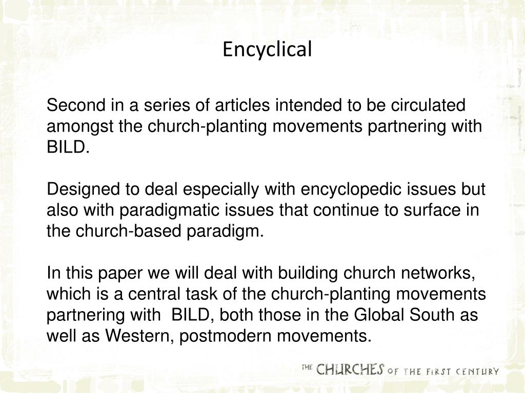 Encyclical