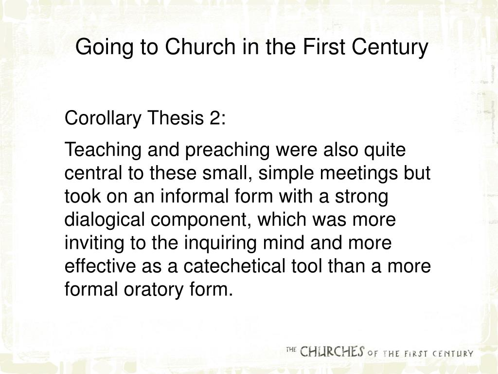 Going to Church in the First Century
