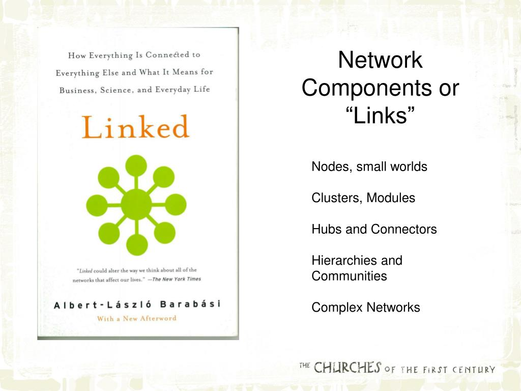 "Network Components or ""Links"""
