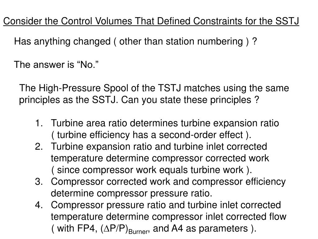 Consider the Control Volumes That Defined Constraints for the SSTJ
