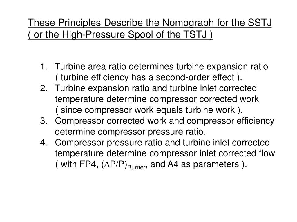 These Principles Describe the Nomograph for the SSTJ