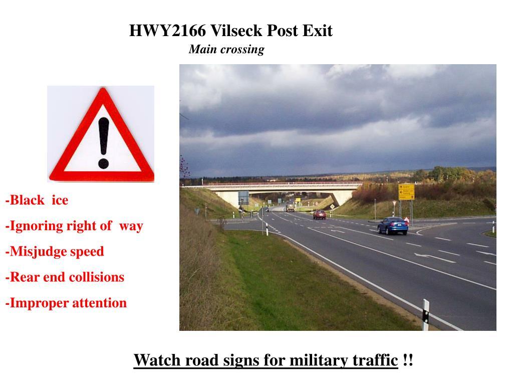 HWY2166 Vilseck Post Exit