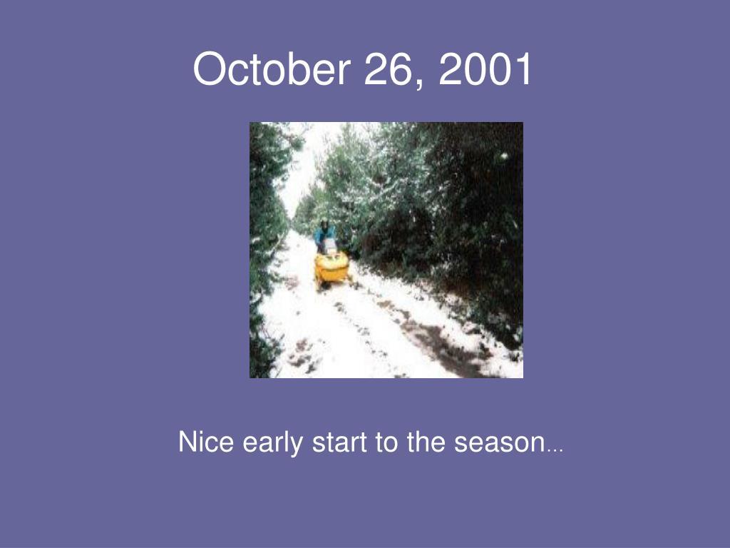 October 26, 2001