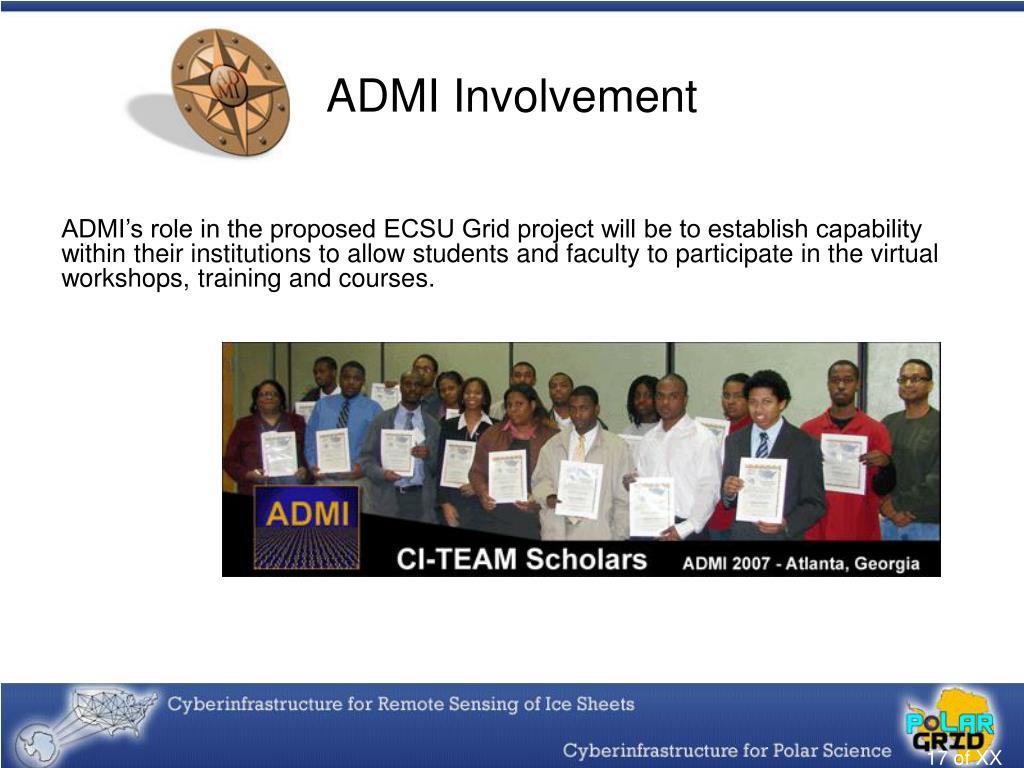ADMI Involvement