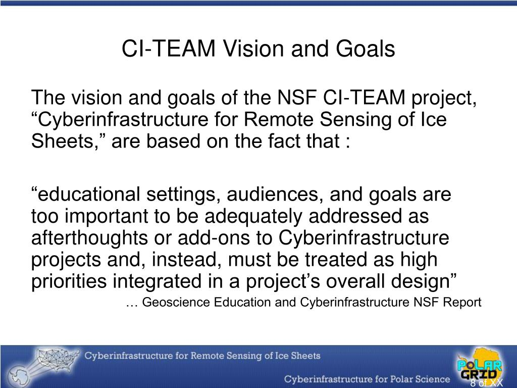 CI-TEAM Vision and Goals