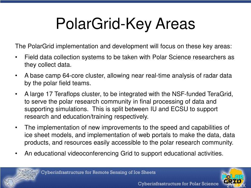 PolarGrid-Key Areas