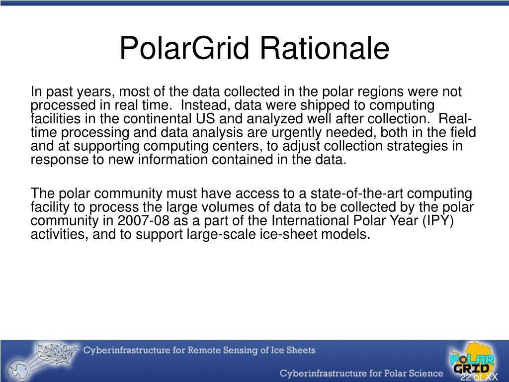 PolarGrid Rationale
