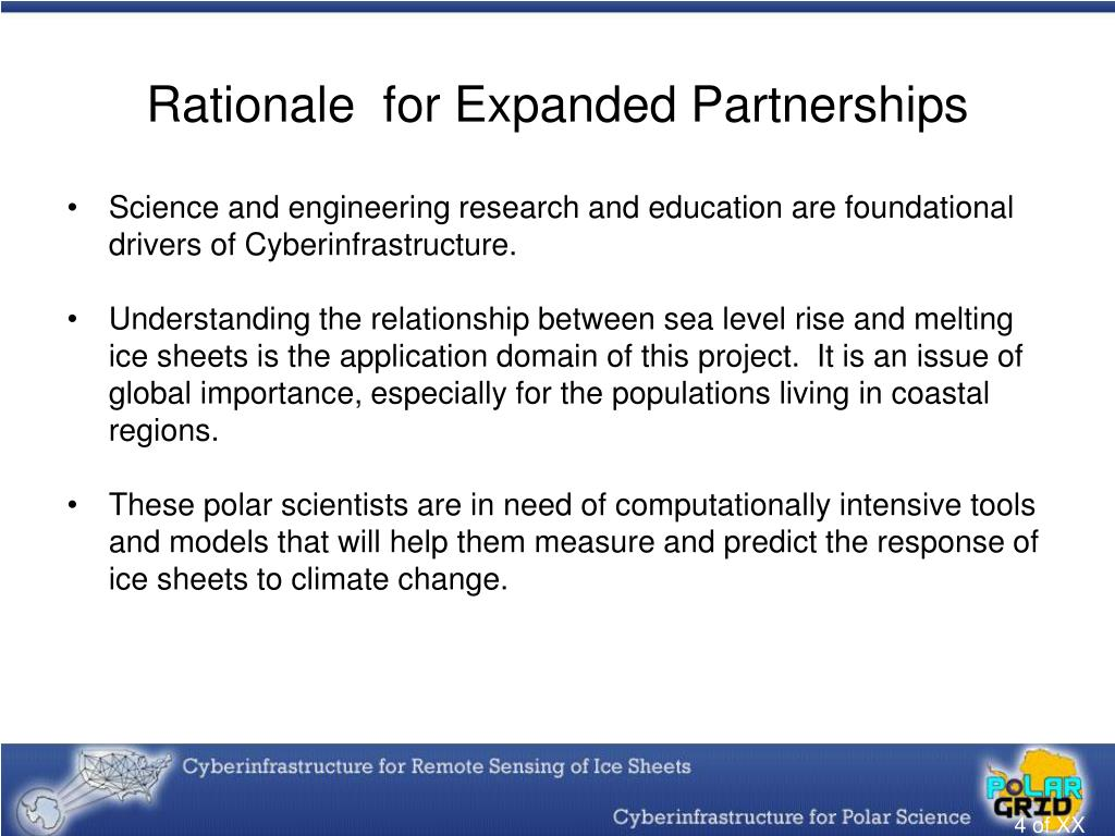 Rationale  for Expanded Partnerships