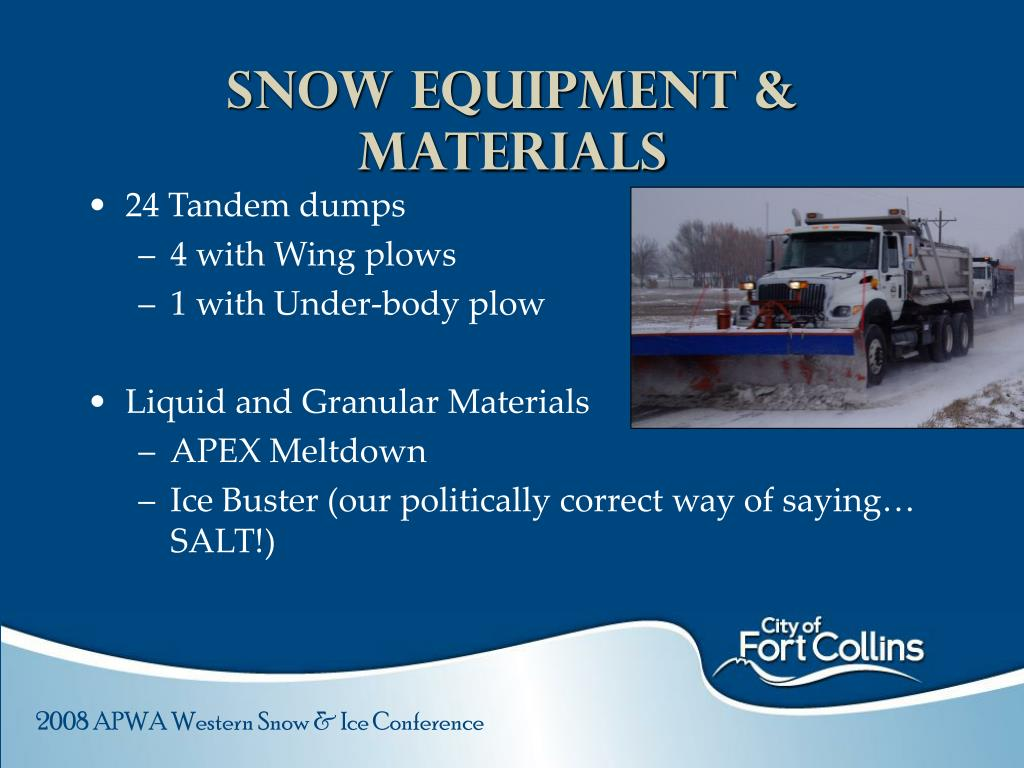 Snow Equipment & materials