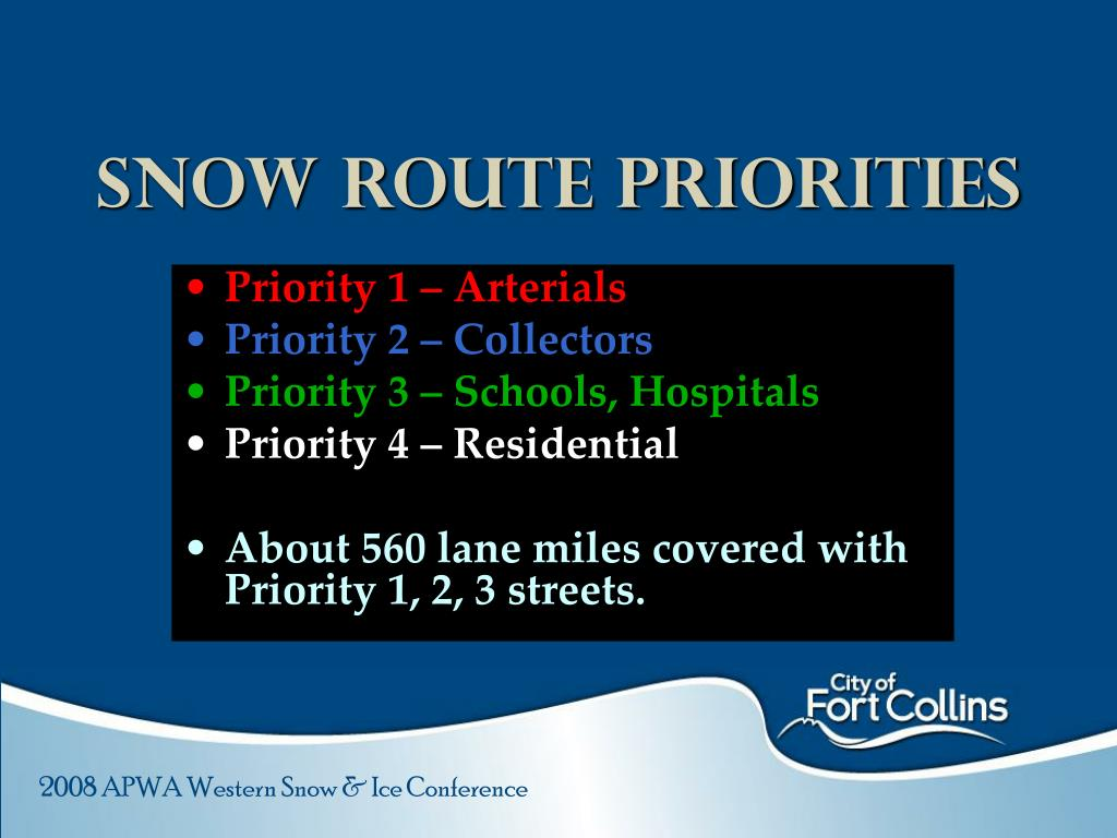 Snow Route Priorities