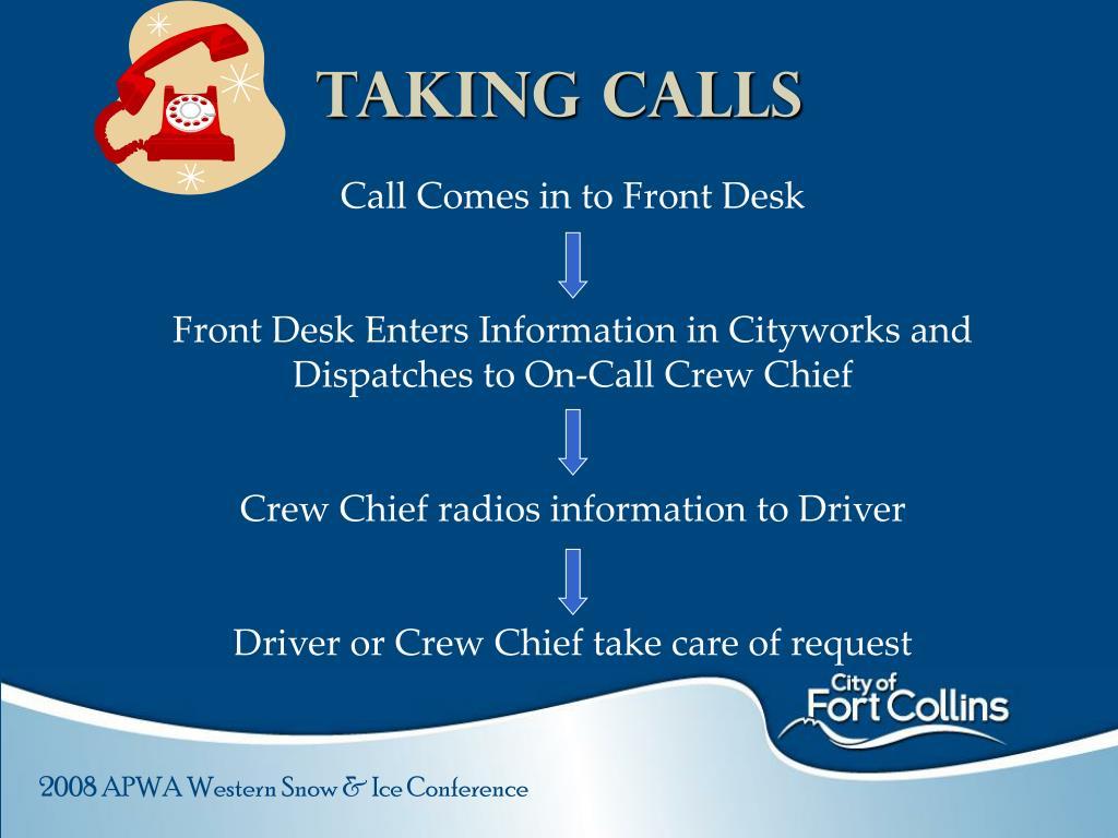 Taking Calls