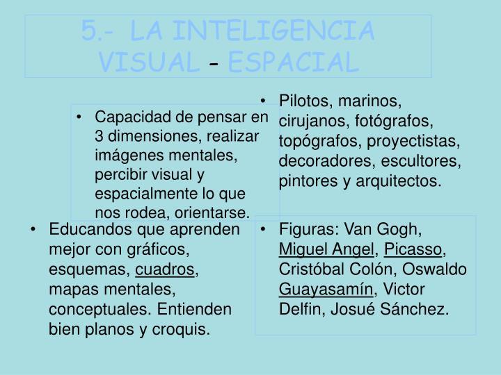 5.-  LA INTELIGENCIA