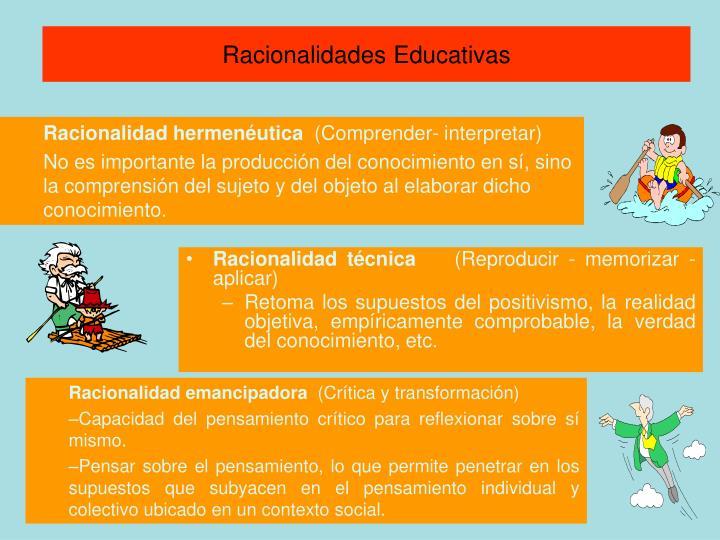 Racionalidades Educativas