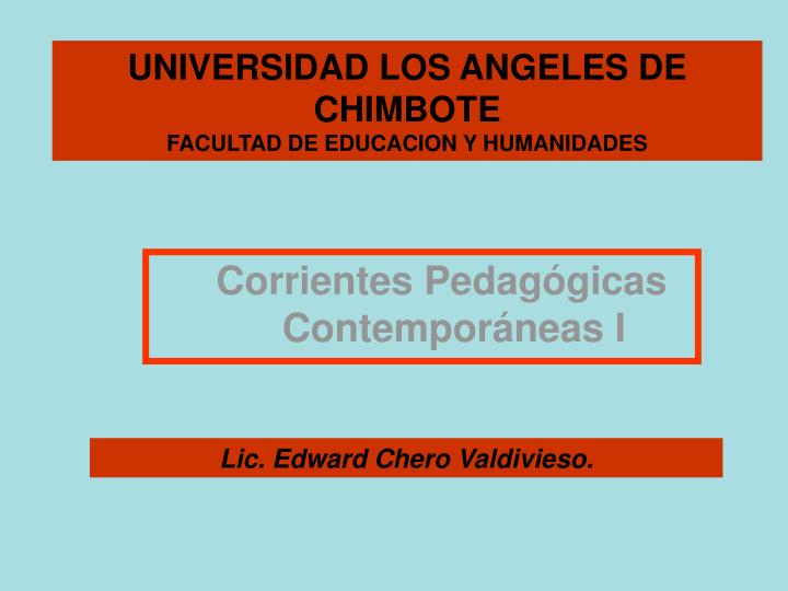 UNIVERSIDAD LOS ANGELES DE CHIMBOTE