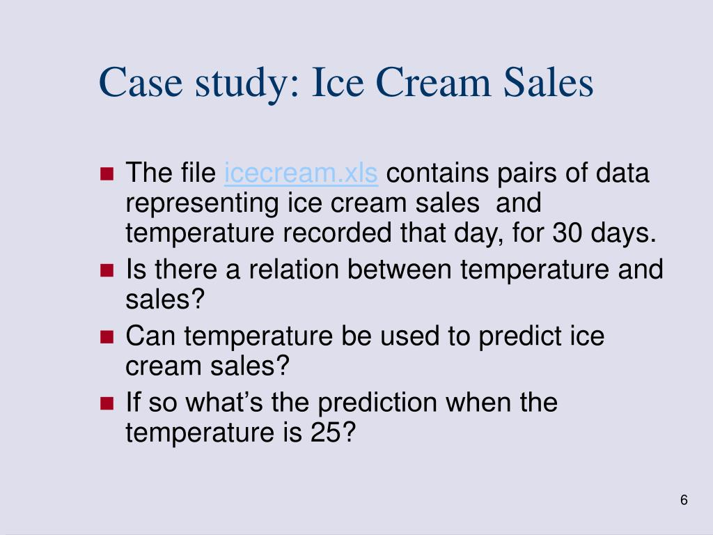 Case study: Ice Cream Sales