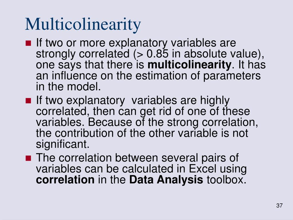 Multicolinearity
