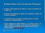 bottled water environmental problems
