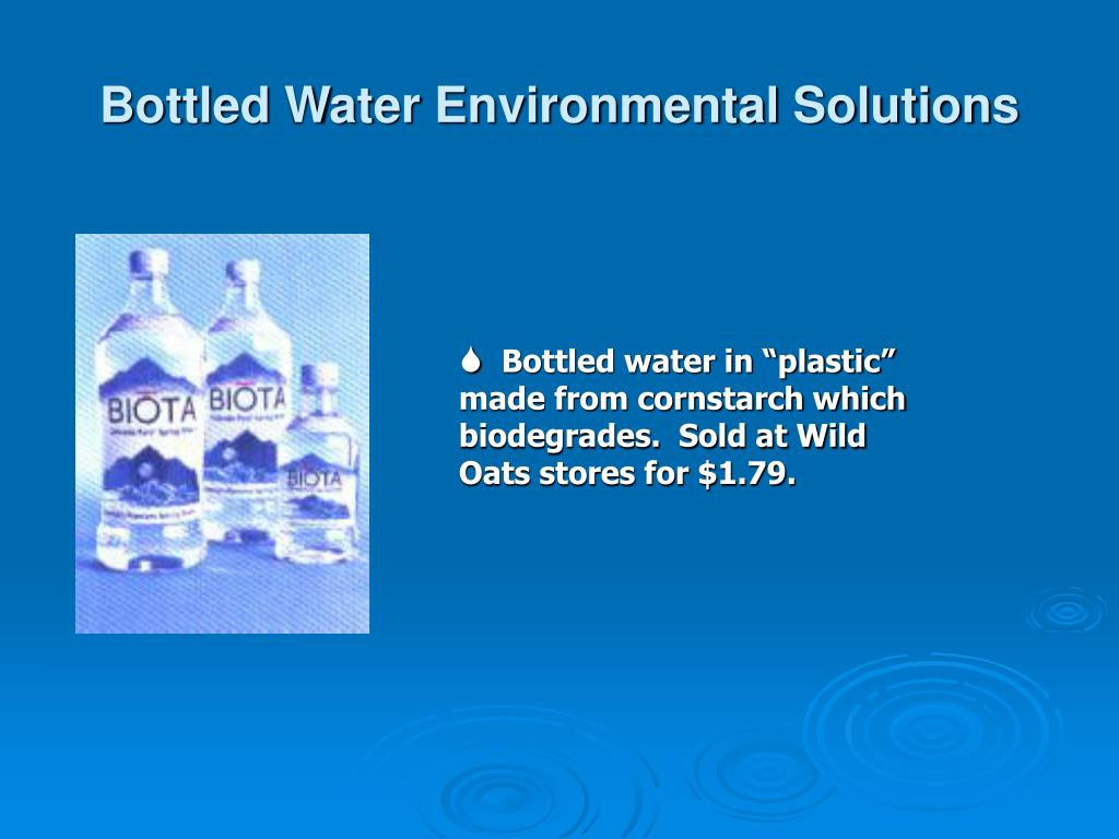 Bottled Water Environmental Solutions
