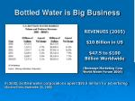 bottled water is big business