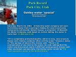 park record park city utah