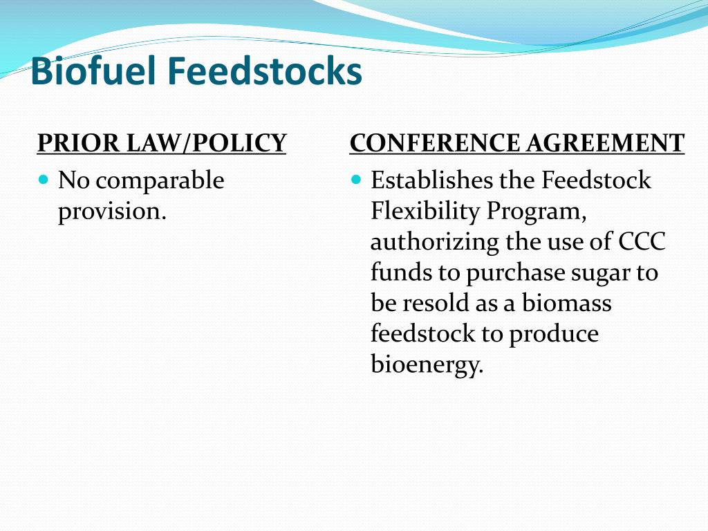 Biofuel Feedstocks