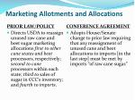 marketing allotments and allocations8