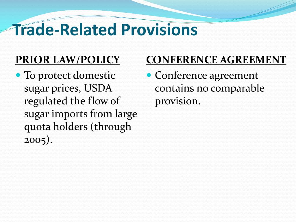 Trade-Related Provisions