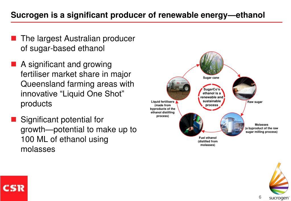 The largest Australian producer of sugar-based ethanol