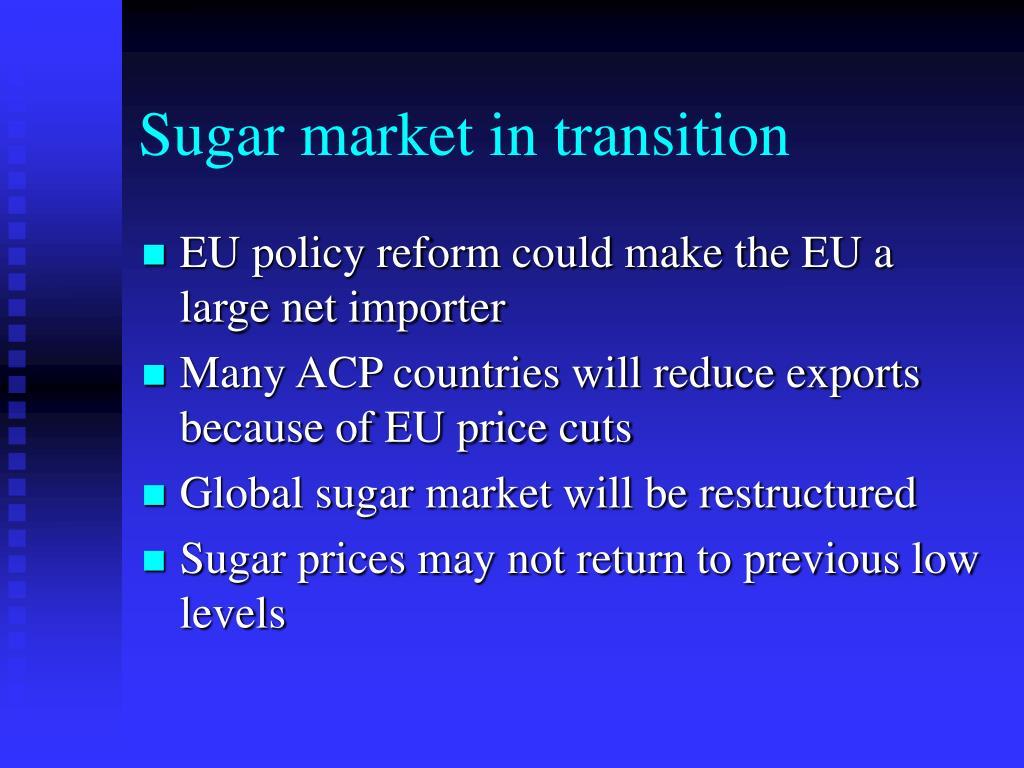 Sugar market in transition