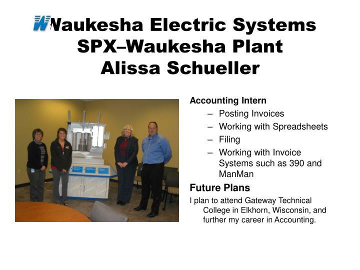 Waukesha Electric Systems SPX–Waukesha Plant