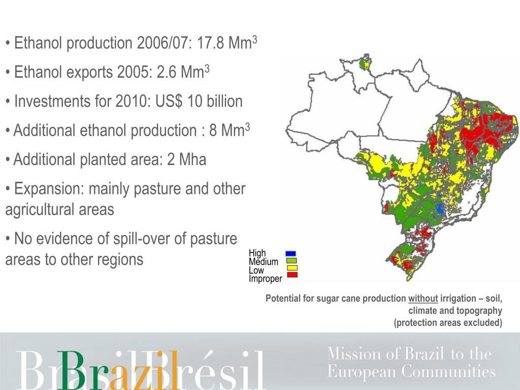 Ethanol production 2006/07: 17.8 Mm