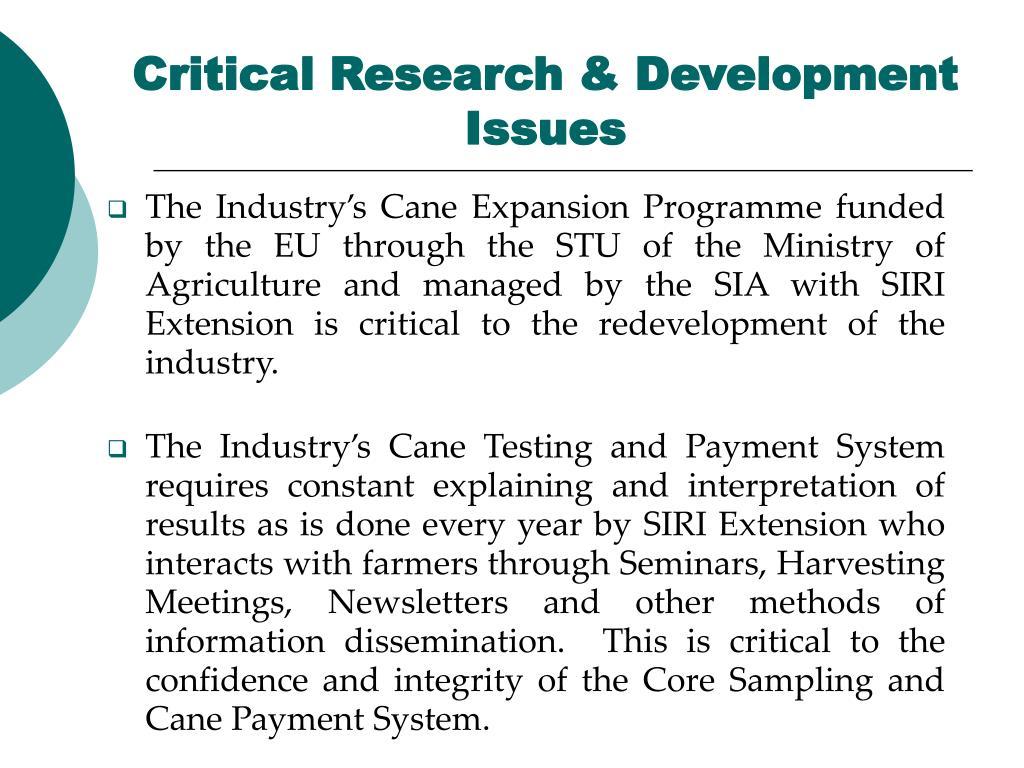 Critical Research & Development