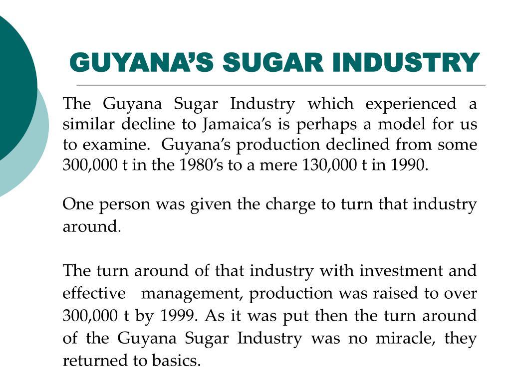 GUYANA'S SUGAR INDUSTRY