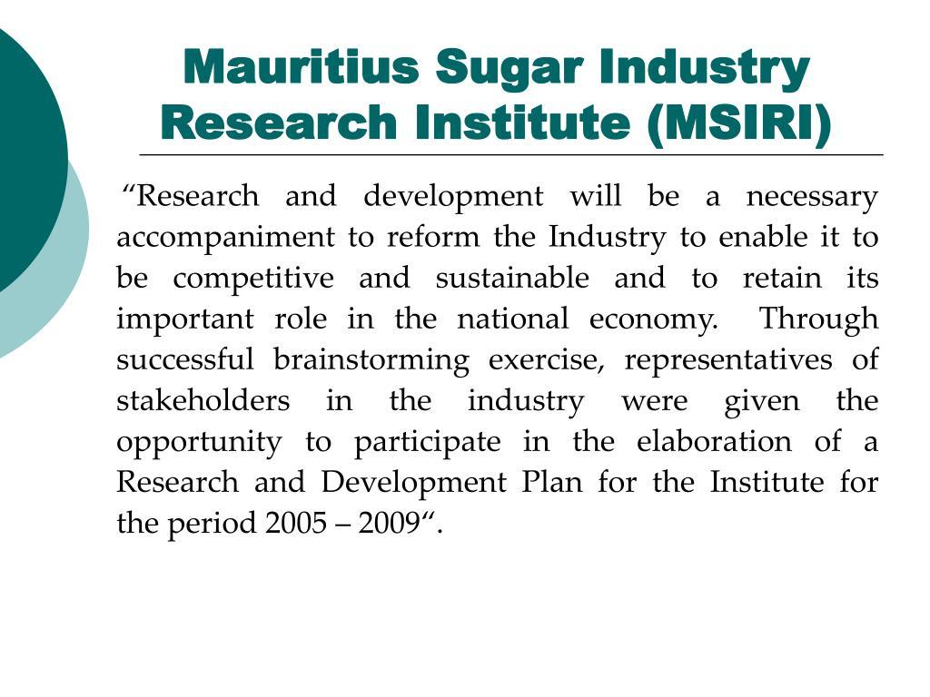 Mauritius Sugar Industry