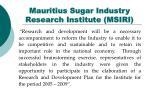mauritius sugar industry research institute msiri